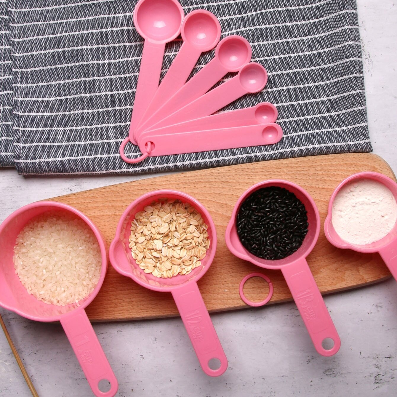 Solid Measuring Spoon 10pcs, SHEIN  - buy with discount