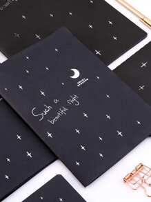 Star Print Cover Notebook 1pc