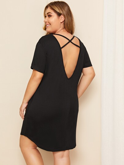 3e300f54bfb Plus Crisscross Back Night Dress