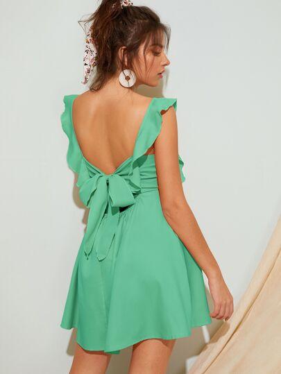 e883aa1ca Tie Back Square Neck Dress