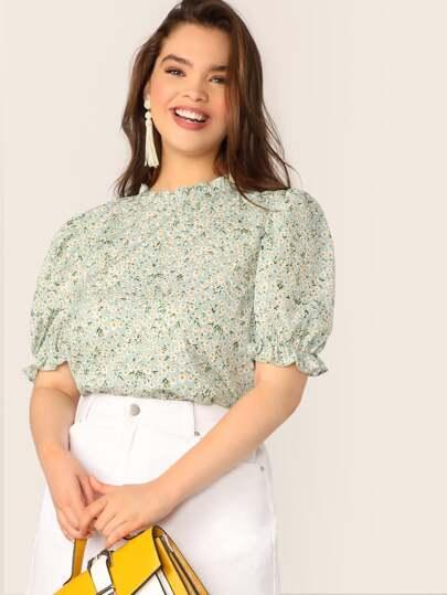 f7b13ce3bbd Women's Plus Size Blouses, Shirts & Tops | SHEIN