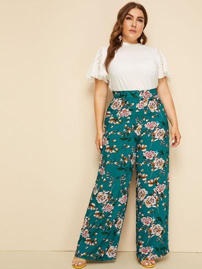 17e5c8a752f0 Plus Size Pants, Shop Plus Size Pants Online | SHEIN IN