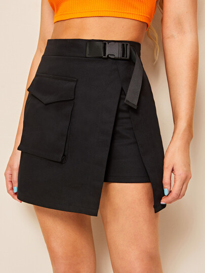 86acb766d Pocket Detail Wrap Skirt