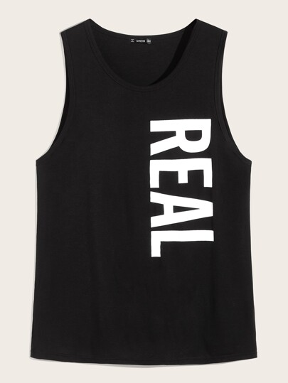 Guys Letter Graphic Tank Top