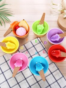 Ice Cream Bowl With Spoon 2pcs