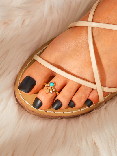 Leaf Detail Toe Ring 1pc
