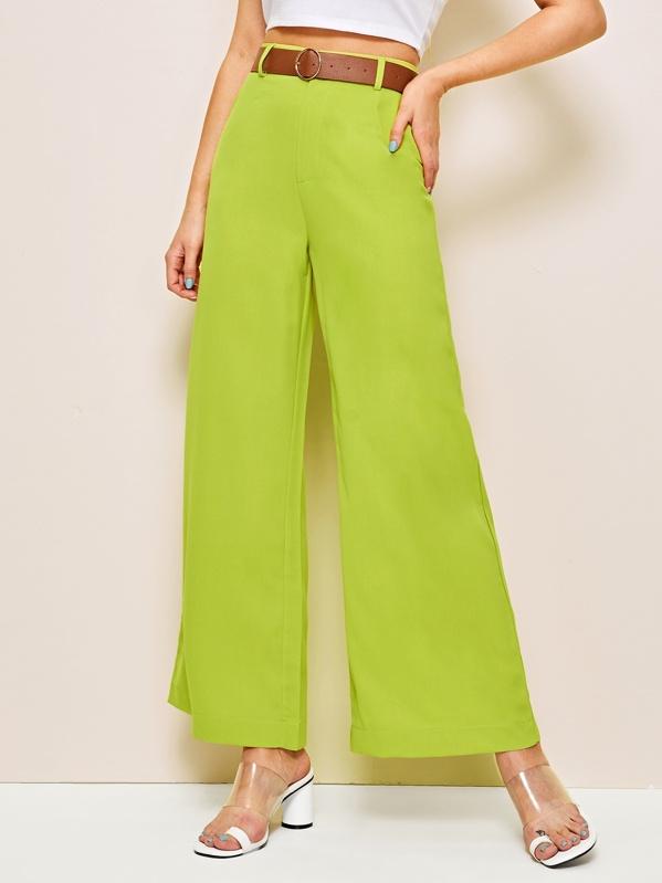 eab520ad7443e Neon Green Wide Leg Pants