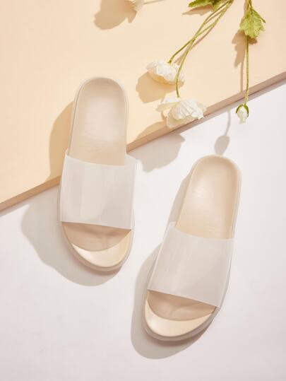 Clear Open Toe Sliders