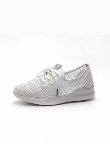 Lace-up Mesh Sneakers