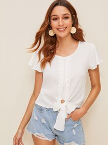 Frill Knot Blouse