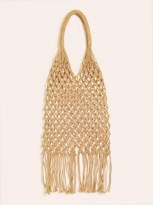 Fringe Decor Net Tote Bag