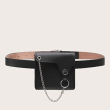 Ring & Chain Decor Bum Bags