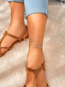 Ball Chain Anklet 3pcs