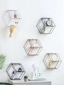 Hexagon Shaped Storage Rack 1pc