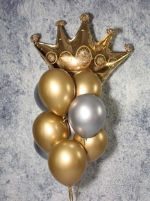 Crown Shaped Balloon Set 10pcs