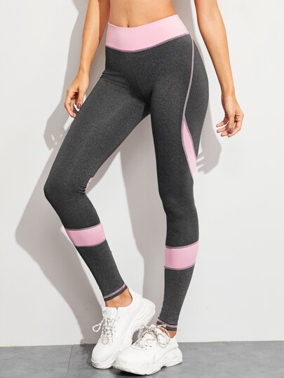 Leggings panel en contraste