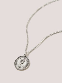 Coin Decor Necklace 1pc