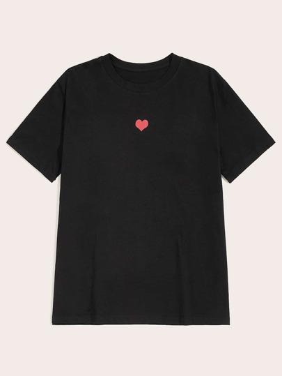 31141e4960 Camiseta de hombres con estampado de corazón