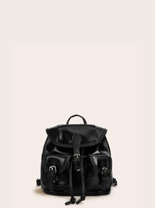 Double Pocket Front Flap Backpack
