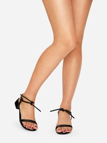 Knotted Detail Block Heels