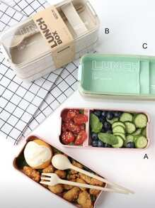 3 Layer Portable Lunch Box With Cutlery