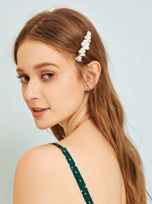 Faux Pearl Decor Hairpin 1pc