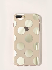 Polka Dot Transparent iPhone Case