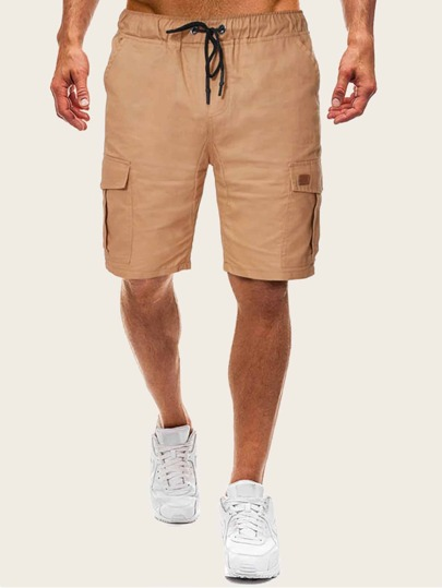 Guys Drawstring Waist Pocket Side Shorts
