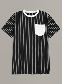 Men Pocket Striped Tee