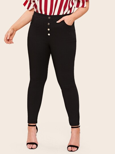 8bfb9b0a32913 Plus Size Jeans, Shop Plus Size Jeans Online | SHEIN IN