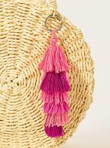 Tassel Decor Tiered Layered Keychain