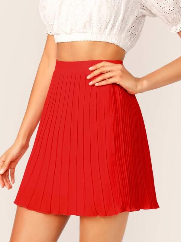 dc0fa1564a High Waist Pleated Skirt | SHEIN UK