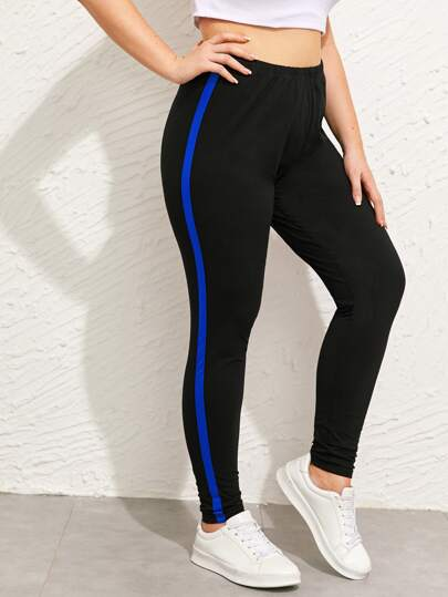 Leggings con cinta lateral-grande