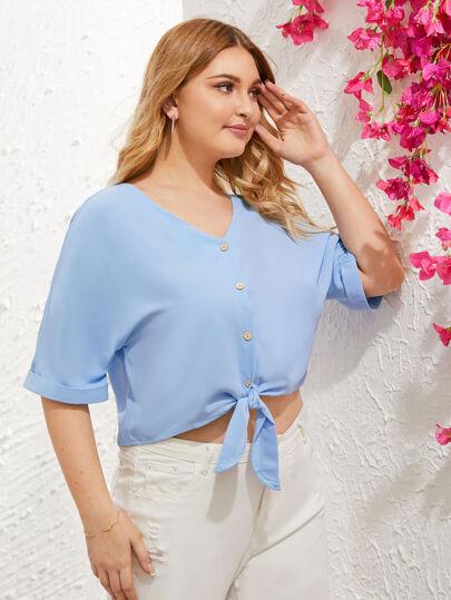 53b3a2a39 Women's Plus Size Blouses, Shirts & Tops | SHEIN