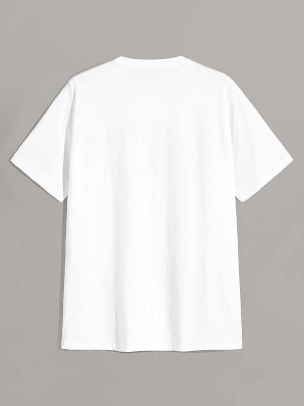 282a9903df Men Rose & Knife Print T-shirt