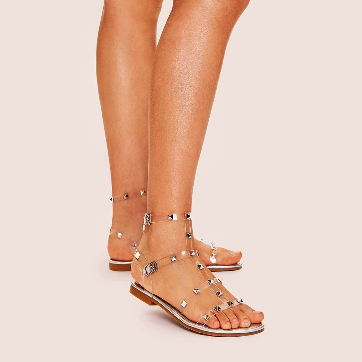 Studded Decor Strappy Sandals