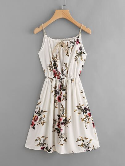 Plus Floral Print Cami Dress