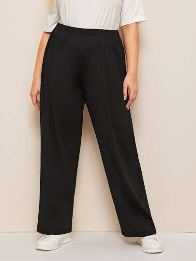 06c2613c5f9e Plus Size Pants, Shop Plus Size Pants Online | SHEIN IN