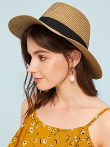 Band Decor Floppy Hat