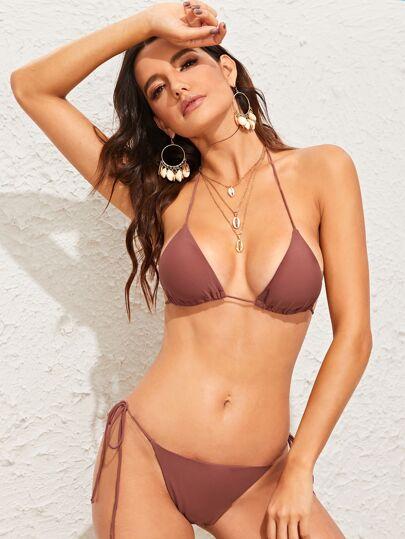 74bb235e199 Triangle Halter Top With Tie Side Tanga Bikini