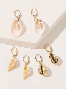 Shell Drop Earrings 3pairs