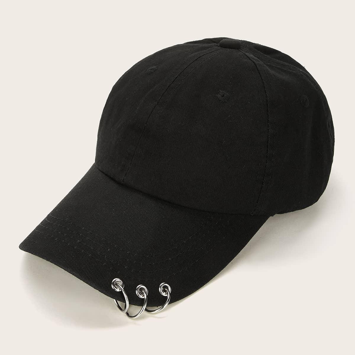 SHEIN coupon: Ring Detail Baseball Cap