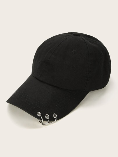 Ring Detail Baseball Cap