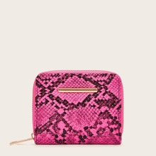 Zip Around Snakeskin Print Purse (swbag03190423954) photo