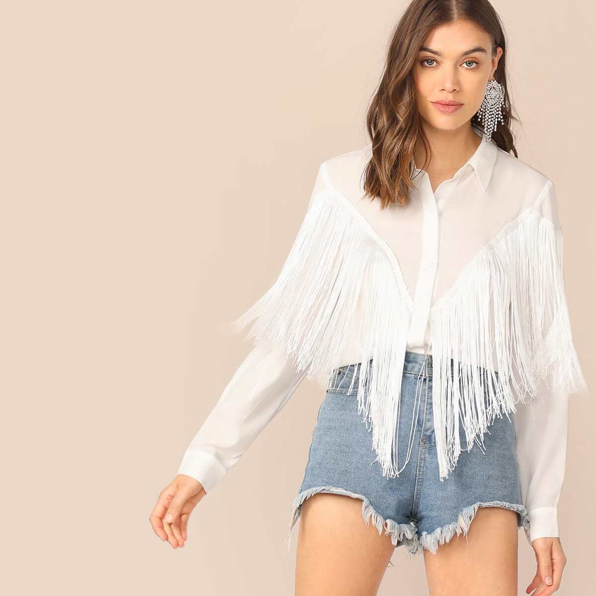 Рубашка с бахромой