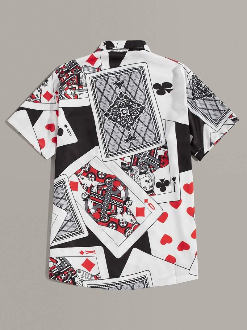 39b3604dbe Camisa notched de chicos con estampado de póker
