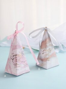 Marble Pattern Triangle Candy Box 10pcs