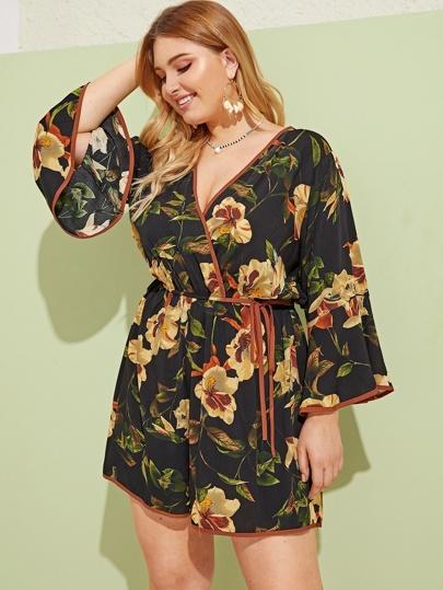 7f04a2c46cbbe Plus Size Jumpsuits, Shop Plus Size Jumpsuits Online | SHEIN UK