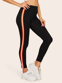 Tuxedo Stripe Side Leggings
