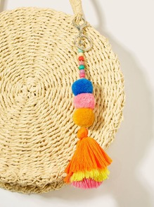 Pom Pom Decor Tiered Layered Keychain